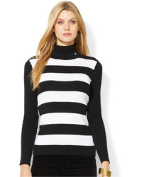 Striped turtleneck sweater medium 155203