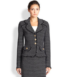 Striped tweed blazer medium 167147