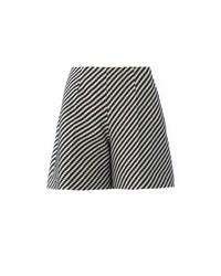 Carven Zigzag Tweed Full Shorts