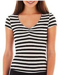 jcpenney Olsenboye Short Sleeve Striped Tee