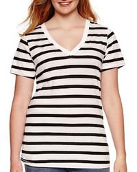 Arizona Short Sleeve Striped Tee Juniors Plus