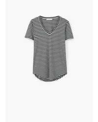 Mango Outlet Striped Bicolor T Shirt