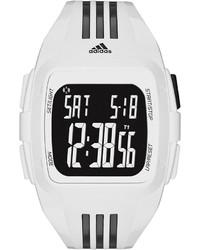 adidas Performance Unisex Digital Duramo Black And White Polyurethane Strap Watch 50mm Adp6091
