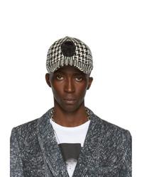 Alexander McQueen Black And Off White Bullion Skull Cap