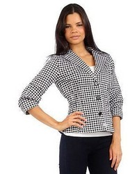 Joan Rivers Classics Collection Joan Rivers Signature Houndstooth Jacket