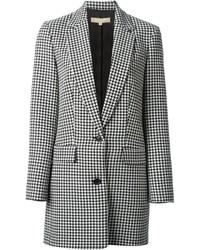 Michael kors michl kors houndstooth pattern jacket medium 132653