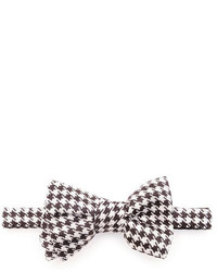 Tom Ford Houndstooth Jacquard Bow Tie Blackwhite