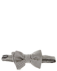 Tom Ford Silk Houndstooth Bow Tie