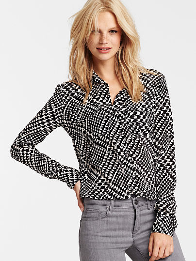 Victoria 39 s secret the silk shirt where to buy how to wear for Victoria secret button down shirt