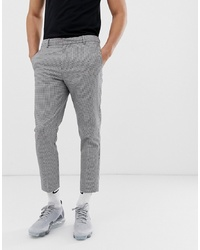 Black and White Houndstooth Chinos