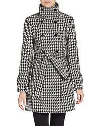 Double breasted houndstooth coat medium 93863