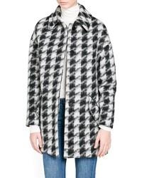 Mango Outlet Houndstooth Wool Blend Oversize Coat