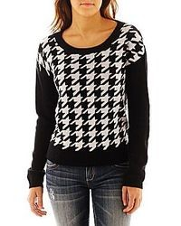 Decree houndstooth sweater medium 12808