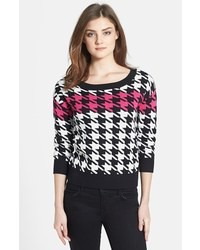 Houndstooth sweater medium 12809