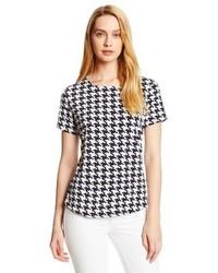 Anne Klein Houndstooth Print T Shirt