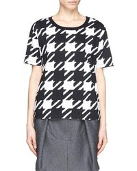 Nobrand Tissia Houndstooth Print Cotton Jersey T Shirt