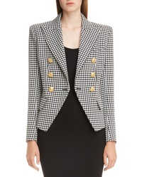 Balmain Double Breasted Houndstooth Blazer