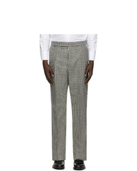 Thom Browne Black And White Tweed Gun Club Check Hunting Trousers