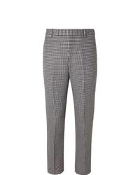 Alexander McQueen Slim Fit Houndstooth Virgin Wool Trousers