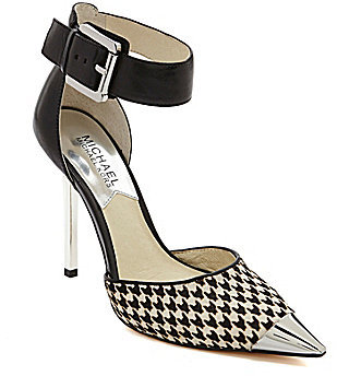 MICHAEL Michael Kors Michl Michl Kors Zady Ankle Strap Pointed Toe Pumps