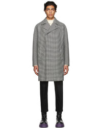 Dunhill Black White Houndstooth Coat