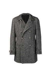 Tagliatore Houndstooth Check Coat