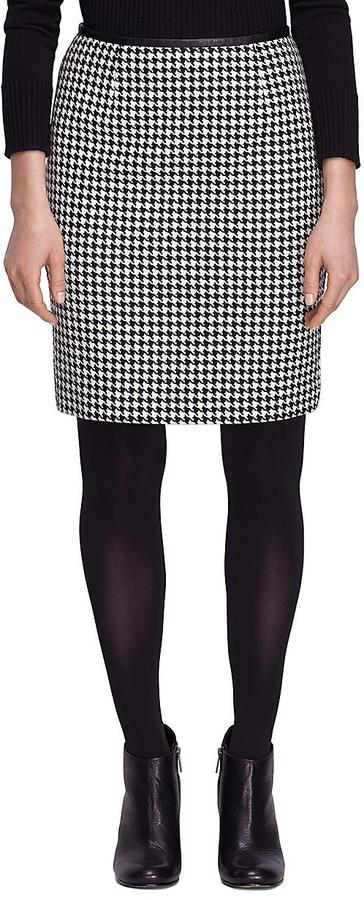 4dd049c2a Brooks Brothers Wool Houndstooth Skirt, $228 | Brooks Brothers ...