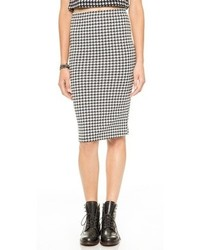 Glamorous Houndstooth Pencil Skirt