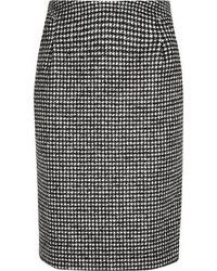Iris ink lauren houndstooth wool blend pencil skirt medium 89204
