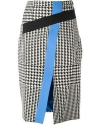 Ungaro emanuel houndstooth print pencil skirt medium 89205