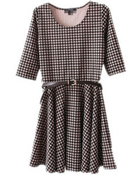 Choies prom skater dress on houndstooth medium 75878