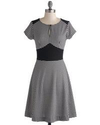 Jessica Simpson Houndstooth Dress Black White 18w Where