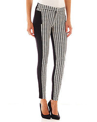 Houndstooth trim knit pants medium 126846
