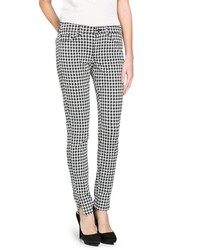 Mango Outlet Slim Fit Houndstooth Trousers