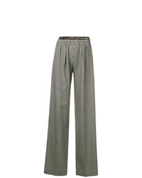 Marco De Vincenzo Houndstooth Wide Leg Trousers