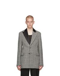 Loewe Black And White 2bt Houndstooth Jacket