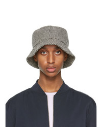 Officine Generale Black And White Houndstooth Bucket Hat