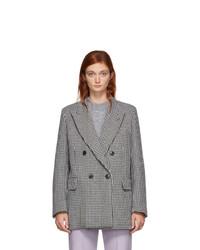 AMI Alexandre Mattiussi Black And White Oversized Blazer