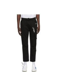 Off-White Black Slim Low Crotch Jeans