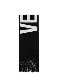 Vetements Black Jacquard Logo Scarf