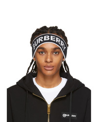 Burberry Black And White Branded Headband