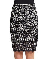 Diane von furstenberg scotia lace pencil skirt medium 281796