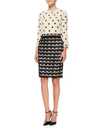 Kate Spade New York Scalloped Lace Pencil Skirt