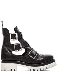 Love Moschino Black White Cut Out Boot