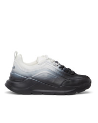 MSGM Black And White Gradient Z Running Sneakers