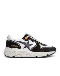 Golden Goose Black And White Running Sole Sneakers