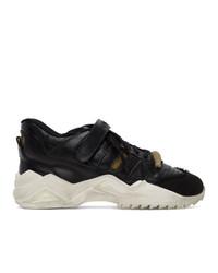 Maison Margiela Black Retro Fit Mid Sneakers