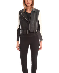 Helmut Lang Forge Leather Biker Jacket
