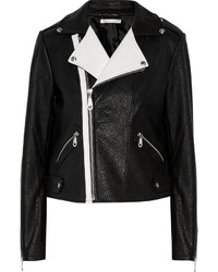 Rebecca Minkoff Wolf Two Tone Textured Leather Biker Jacket
