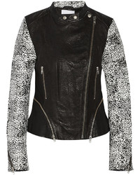 Walter W118 By Baker Liz Printed Leather Biker Jacket
